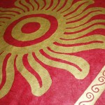 Aztec Sun design from red coloured Ecopod