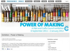 The Power of Making - Victoria & Albert Museum website screen grab